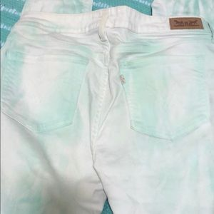Levi jeans. White with a mint tint!